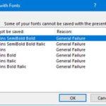 Google Poppins font error when saving a PowerPoint presentation – General Failure
